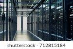 network server room with... | Shutterstock . vector #712815184