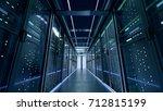 network server room with... | Shutterstock . vector #712815199
