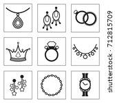 jewelry elements vectors....   Shutterstock .eps vector #712815709