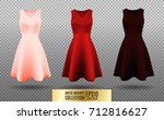 women's dress mockup collection.... | Shutterstock .eps vector #712816627