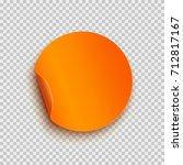 round peel off paper sticker... | Shutterstock .eps vector #712817167