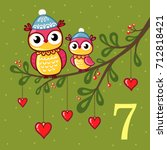 vector christmas advent... | Shutterstock .eps vector #712818421