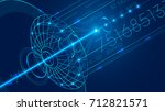 abstract technology digital... | Shutterstock .eps vector #712821571