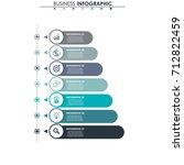 business data  chart. abstract... | Shutterstock .eps vector #712822459