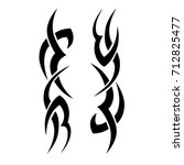 tattoo tribal vector design.... | Shutterstock .eps vector #712825477