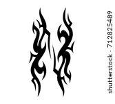 tattoo tribal vector design....   Shutterstock .eps vector #712825489