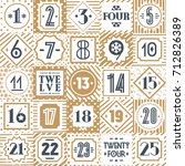 christmas countdown printable... | Shutterstock .eps vector #712826389