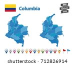columbia   high detailed map... | Shutterstock .eps vector #712826914