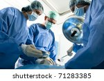portrait of team of surgeons at ... | Shutterstock . vector #71283385