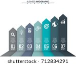 business data  chart. abstract... | Shutterstock .eps vector #712834291