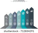 business data  chart. abstract... | Shutterstock .eps vector #712834291