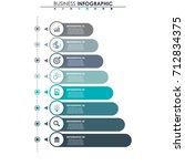 business data  chart. abstract... | Shutterstock .eps vector #712834375