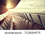 sea view from cruise ship... | Shutterstock . vector #712834975