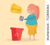 e waste. separate sorting...   Shutterstock .eps vector #712836361