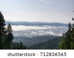 view from mountains with cloudy ... | Shutterstock . vector #712836565