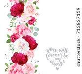 vertical seamless line garland... | Shutterstock .eps vector #712837159