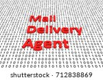 mail delivery agent in the form ... | Shutterstock . vector #712838869