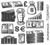vintage cash elements...   Shutterstock .eps vector #712839457
