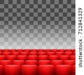 vector luxury red seats... | Shutterstock .eps vector #712841329