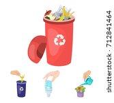 energy saving light bulb ... | Shutterstock .eps vector #712841464