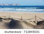 deserted coastline landscapes... | Shutterstock . vector #712845031