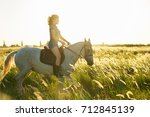 beauty brunette woman with... | Shutterstock . vector #712845139