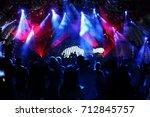 defocused entertainment concert ... | Shutterstock . vector #712845757