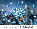ai artificial intelligence  and ... | Shutterstock . vector #712846069