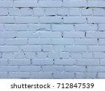 old white bricks wall texture | Shutterstock . vector #712847539