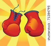 knockout boxing gloves   vector | Shutterstock .eps vector #71284795