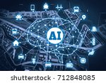 ai artificial intelligence  and ...   Shutterstock . vector #712848085