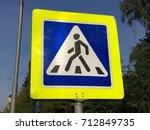 walking people street road sign | Shutterstock . vector #712849735
