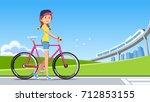 the travel reduced energy... | Shutterstock .eps vector #712853155
