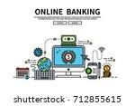 flat line vector editable... | Shutterstock .eps vector #712855615