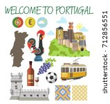 portugal travel tourism welcome ... | Shutterstock .eps vector #712856551