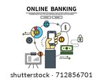 flat line vector editable... | Shutterstock .eps vector #712856701