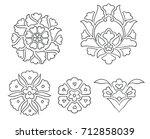 flower motifs | Shutterstock . vector #712858039