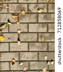 old street paving slab texture | Shutterstock . vector #712858069