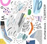 creative art header with... | Shutterstock .eps vector #712859539