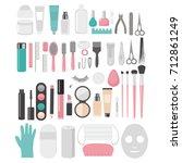 flat design elements of... | Shutterstock .eps vector #712861249