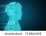 abstract circuit side male... | Shutterstock . vector #712861345