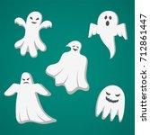 a set of cast for halloween....   Shutterstock .eps vector #712861447