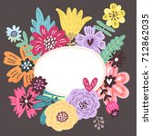 floral background for text.... | Shutterstock . vector #712862035
