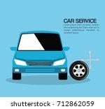 mechanic car service icons   Shutterstock .eps vector #712862059