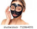 beauty  beautiful woman in... | Shutterstock . vector #712864051