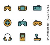 vector flat video game icons... | Shutterstock .eps vector #712871761