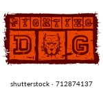 vector illustration orange... | Shutterstock .eps vector #712874137