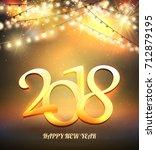 shine garland. greeting new... | Shutterstock .eps vector #712879195