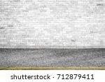 background of old vintage white ... | Shutterstock . vector #712879411