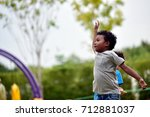 kid and friends in... | Shutterstock . vector #712881037